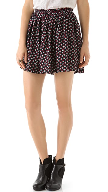 Girl. by Band of Outsiders Short Gathered Miniskirt