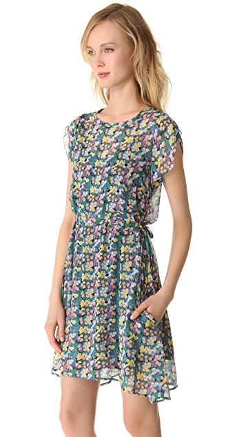 Girl. by Band of Outsiders Mini Blossom Crinkle Dress
