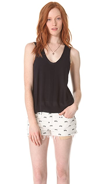 Girl. by Band of Outsiders Malibu Pointelle Tank