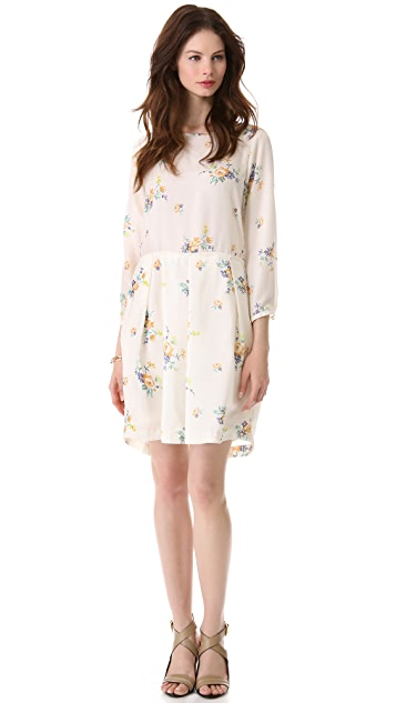 Girl. by Band of Outsiders Long Sleeve Printed Dress