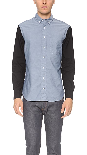 Gitman Vintage Contrast Sleeves Chambray Shirt