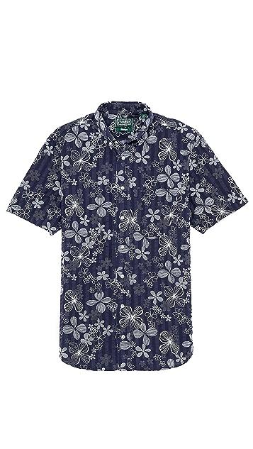 Gitman Vintage Floral Seersucker Shirt