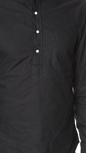 Gitman Vintage Banded Collar Oxford Popover