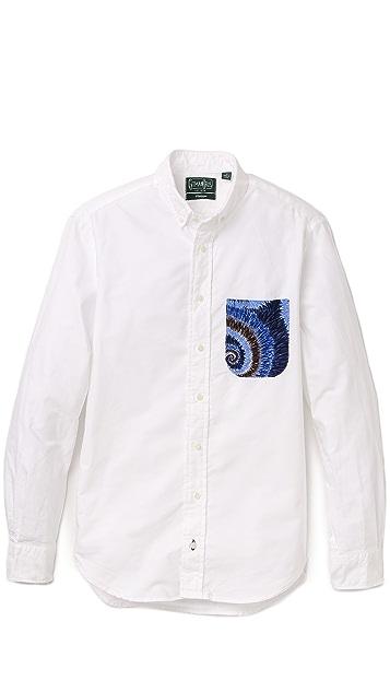 Gitman Vintage Oxford Shirt with Blue Eddy Pocket