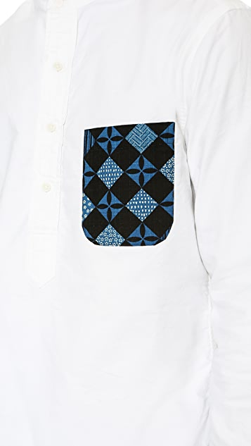 Gitman Vintage Banded Collar Popover
