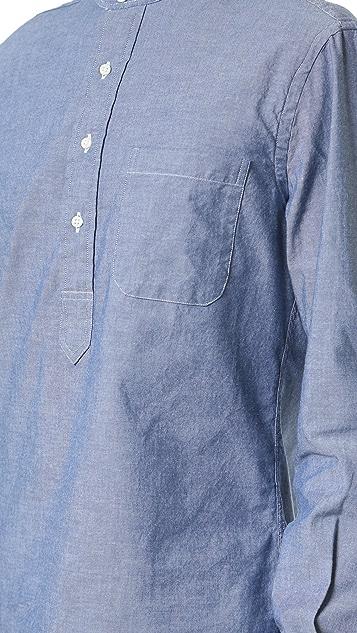 Gitman Vintage Band Collar Chambray Popover