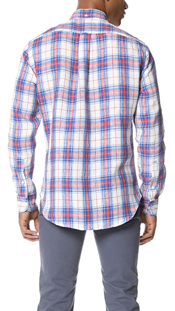 Gitman Vintage Archive Linen Plaid Button Down Shirt
