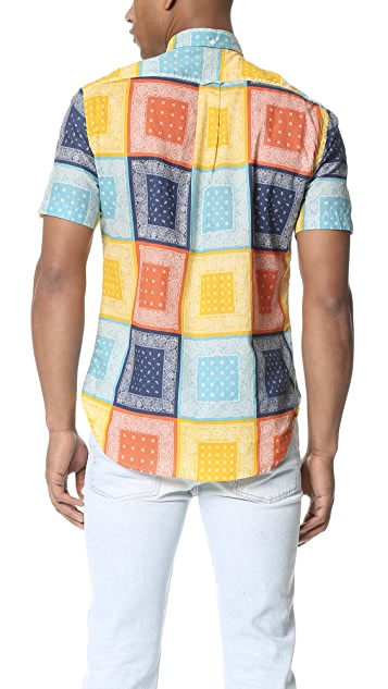Gitman Vintage Homage to Paisley Short Sleeve Button Down Shirt