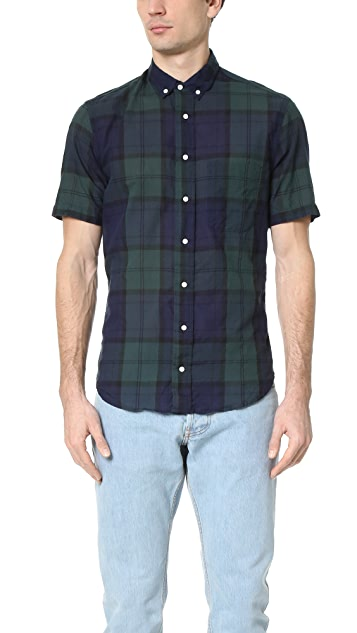 Gitman Vintage Blackwatch Japanese Voile Short Sleeve Shirt