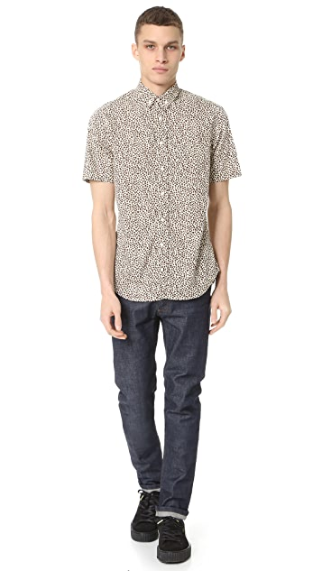 Gitman Vintage Leopard Short Sleeve Shirt