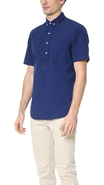 Gitman Vintage Overdye Chambray Short Sleeve Popover