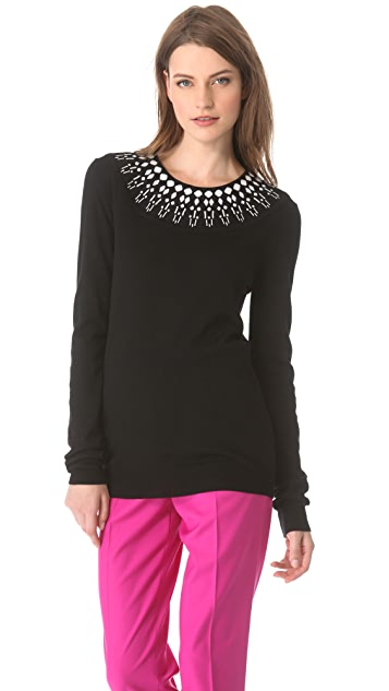 Giulietta Jewel Collar Sweater