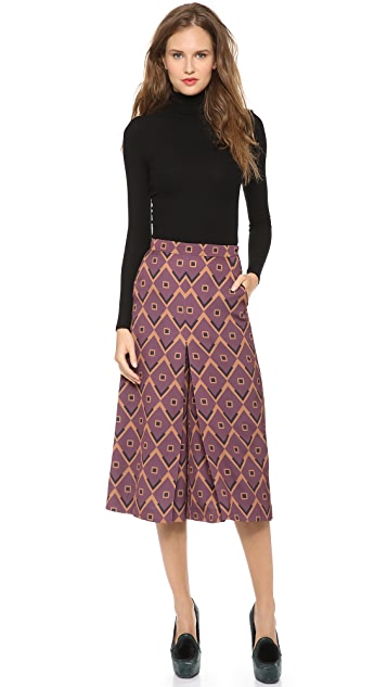Giulietta Silk Culotte Pants