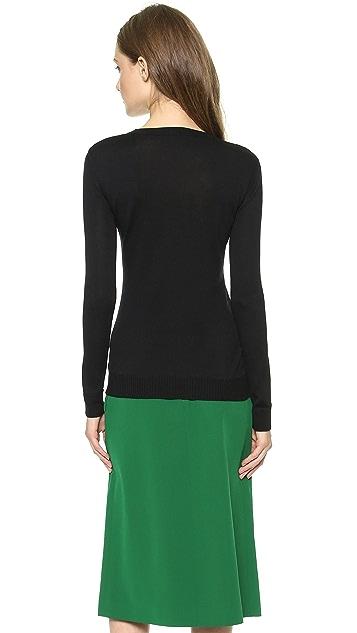 Giulietta Center Stripe Silk Pullover
