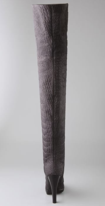 Giuseppe Zanotti Embossed Thigh High Boots