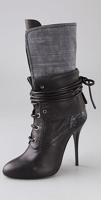 Giuseppe Zanotti Lace Up Cuff Boots  9d44868e287d