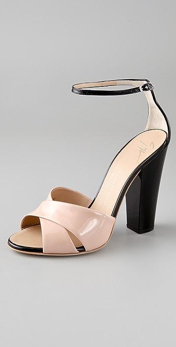 Giuseppe Zanotti Crisscross Sandals on Chunky Heel