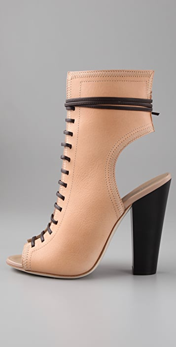 Giuseppe Zanotti Open Toe Lace Up Booties