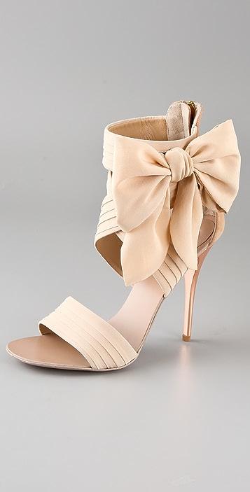 Giuseppe Zanotti Chiffon Bow High Heel Sandals