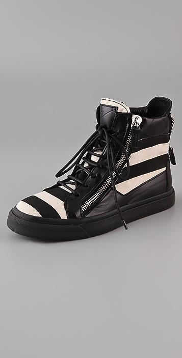 Giuseppe Zanotti Striped Sneakers