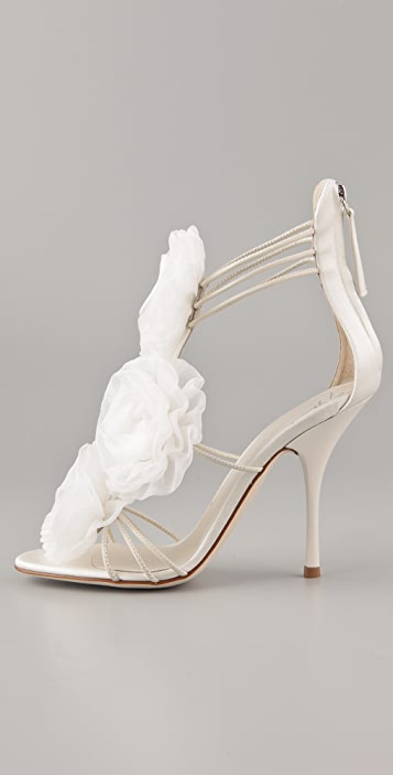 Giuseppe Zanotti Chiffon Flower Sandals