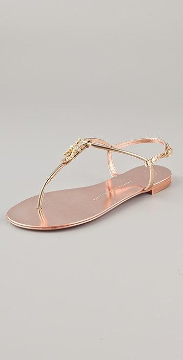 Giuseppe Zanotti Zodiac Collection Flat Sandals
