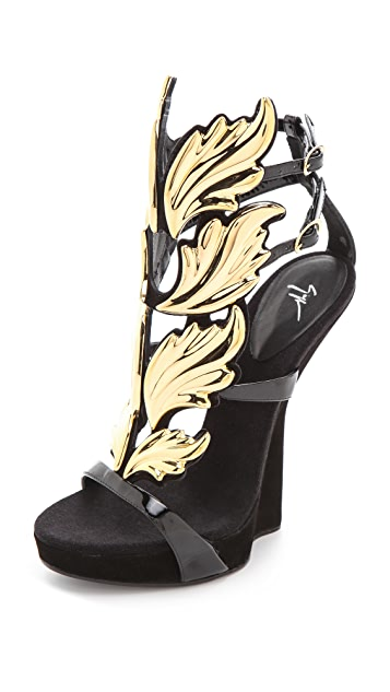 Giuseppe Zanotti Baroque Leaf Sandals Shopbop Save Up To