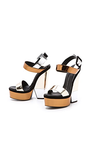 Giuseppe Zanotti Metallic Platform Sandals