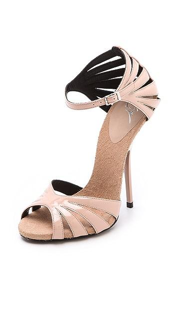 Giuseppe Zanotti Alien Patent Sandals