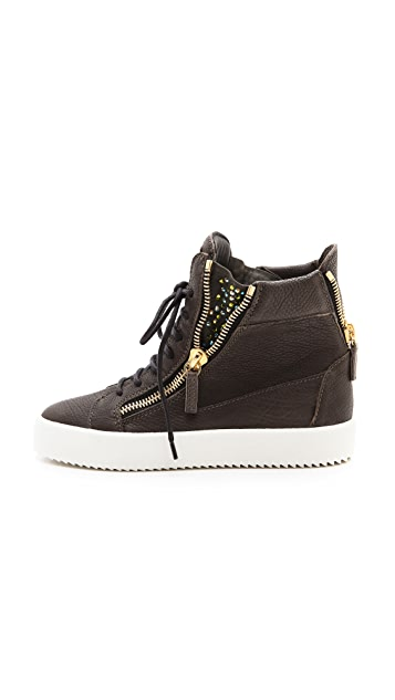 Giuseppe Zanotti London Embellished Zip Sneakers