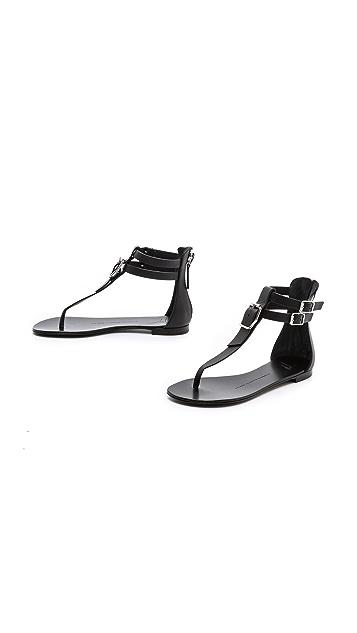 Giuseppe Zanotti Flat T Strap Sandals