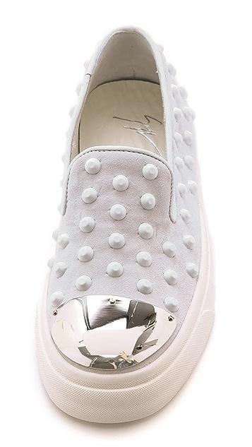 Giuseppe Zanotti Studded Toe Cap Sneakers
