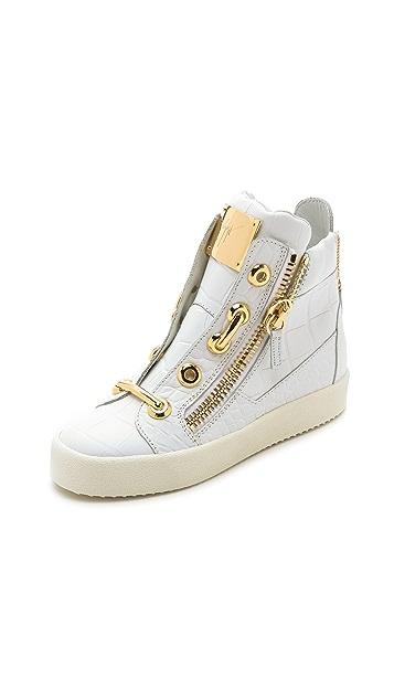 c19e29a1a5b3 Giuseppe Zanotti Croc Embossed Sneakers