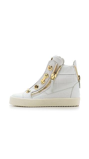 070a5d5aa6d9 Giuseppe Zanotti Croc Embossed Sneakers  Giuseppe Zanotti Croc Embossed  Sneakers ...