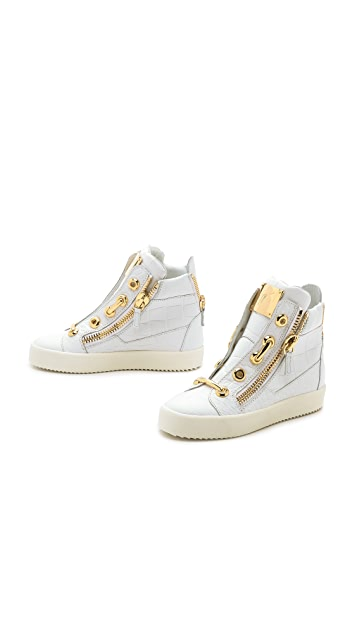 efced82a9453 ... Giuseppe Zanotti Croc Embossed Sneakers