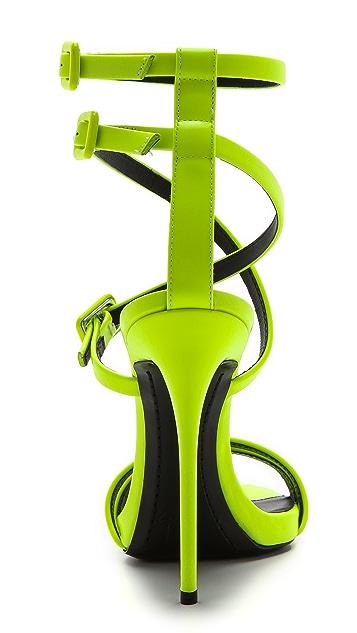 Giuseppe Zanotti Neon Crisscross Sandals