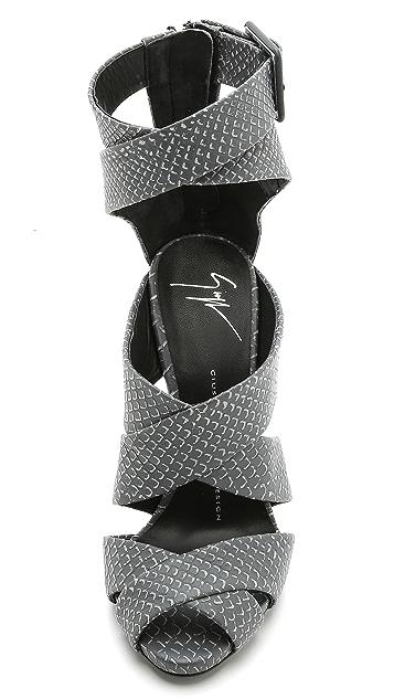 Giuseppe Zanotti Leather Strappy Sandals