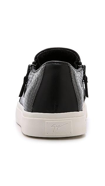 Giuseppe Zanotti Snake Embossed Moc Sneakers