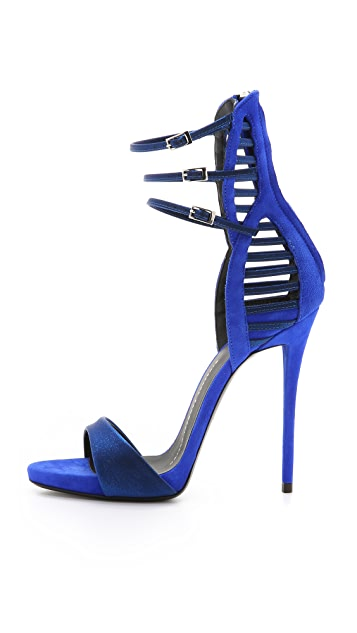 Giuseppe Zanotti Suede Strappy Heeled Sandals