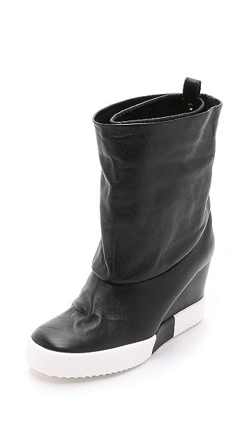 Giuseppe Zanotti Leather Sneaker Booties