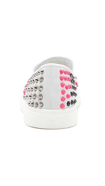 Giuseppe Zanotti Studded Slip On Sneakers
