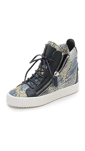 arriving sells preview of Printed Snake Sneakers