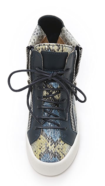 Giuseppe Zanotti Printed Snake Sneakers