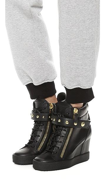 1da9c74ec82 Giuseppe Zanotti Lorenz Wedge Sneakers  Giuseppe Zanotti Lorenz Wedge  Sneakers ...