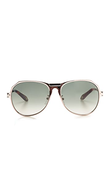 Givenchy Sleek Aviator Sunglasses