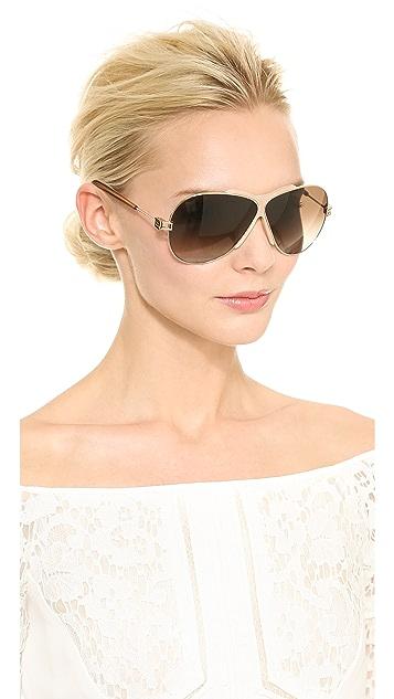 Givenchy MIddle Rim Aviator Sunglasses