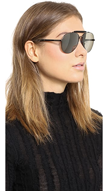 Givenchy Top Bar Aviator Sunglasses