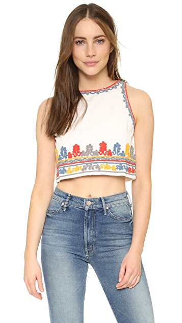 Glamorous Embroidered Crop Top