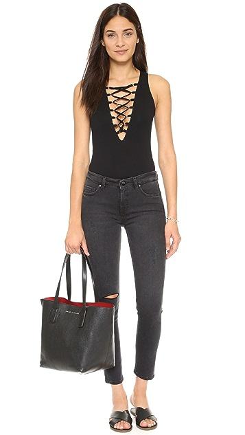 Glamorous Lace Up Bodysuit