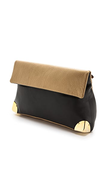 Golden Lane Metallic Duo Clutch